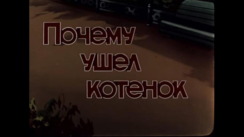 ☭☭☭ Почему ушел котенок (1957) ☭☭☭