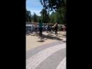 Зарядка- танцы Зумба в парке Дк железнодорожников ( 2.06.18г.)