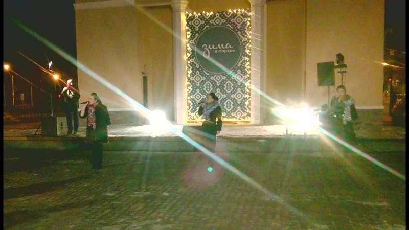 Концерт новой татарской музыки (Yummy Music) (Болгар кызлары - Ай жаный, вай жаный) - сквер Аксенова Казань 04.01.2018