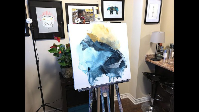 How to Create an Abstract Acrylic Painting using a Catalyst Wedge (Timelapse)