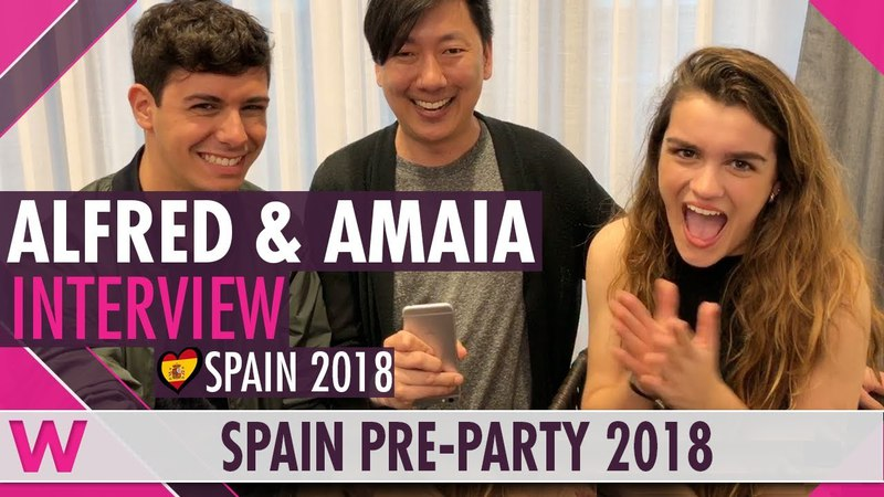 Alfred Amaia (Spain 2018) Interview | Eurovision Spain PreParty 2018