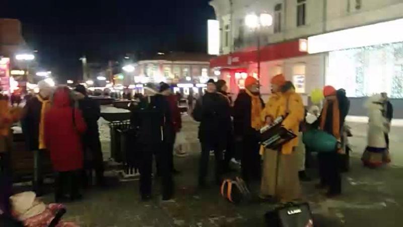 Харинама-санкиртана в Екатеринбурге. Завершающий киртан 5-ти часовой харинамы