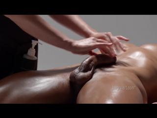 Playful penis massage (oil hegre-art cum erotic sperm orgasm handjob эротический массаж пениса)