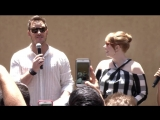Chris Pratt and Bryce Dallas Howard present T-Rex at Jurassic World Fallen Kingdom Amazon event