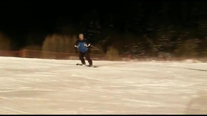 Мой второй день на сноуборде 2016-2017