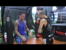 Nieky Holzken training Lethwei with Dave Leduc