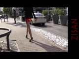red shiny skirt in the sun - YouTube (1080p)