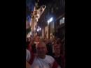 Шествие Польских болельщиков по Тверской Москва