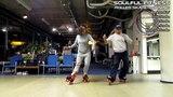 Backstrokin - танцевальное движение на роликах