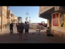 Уличный музыкант порт Яффо