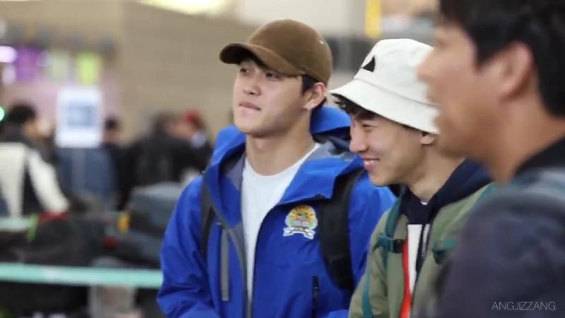 [FANCAM] 04.03.2018: Ынкван и Хёншик в аэропорту Инчхон