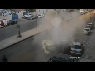 Head-on collision_ police car and a taxi, amman, jordan