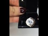 Шикарный комплект Серебро925/золото 19K ?цирконы алмазной огранки?