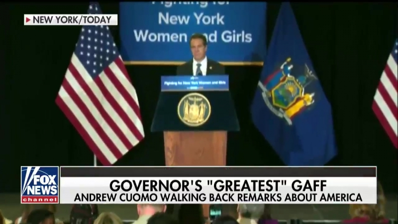 New York Gov Andrew Cuomo America 'was never that great'
