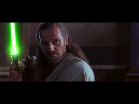 Квай-Гон Джинн и Оби-Ван Кеноби vs Дарт Мол.Star Wars Episode I: The Phantom Menace.1999