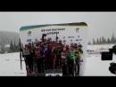 Цветочная церемония смешанной эстафеты на Кубке IBU в Шушене 2017
