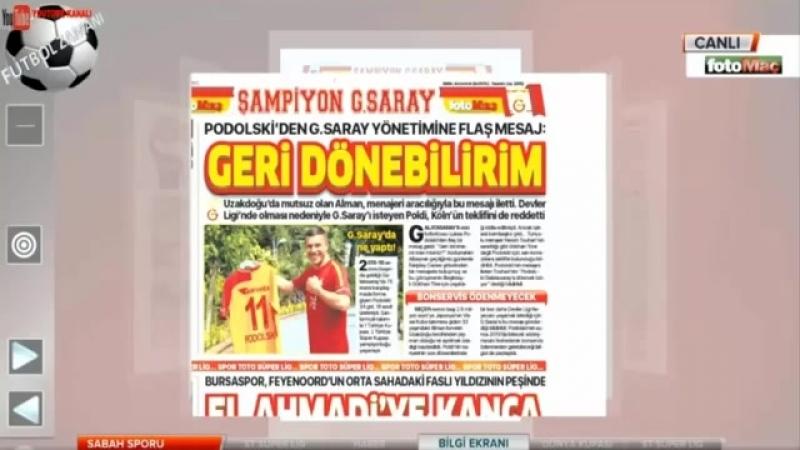GALATASARAY Sabah Sporu - Gomis, Torres, Bacca Yorumları 18 Haziran 2018