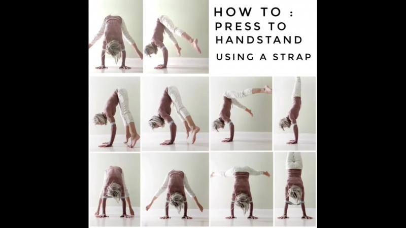 How to Straddle press to handstand using a strap