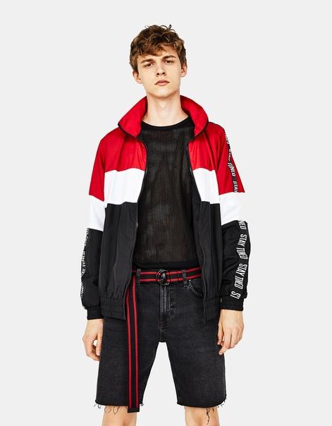 Куртка с боковыми полосками