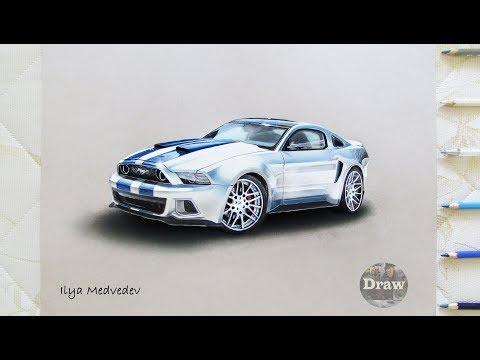 Need for Speed Жажда скорости Рисунок Форд Мустанг