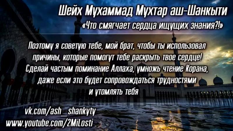Щейх Мухаммад Мухтар аш-Шанкыти - Что смягчает сердца ищущих знания