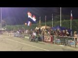 Болельщики сборной Франции  (мотобол мяч спорт мотоцикл евро мужской характер мото сборная России чемпионат кубок)