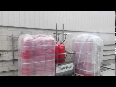 Испытание модуля газового пожаротушения на основе углекислоты CO2