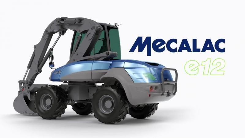 Полностью электрический экскаватор MECALAC e12 представили на Intermat 2018 в Париже