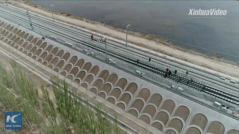 New high-speed railway under construction in western China