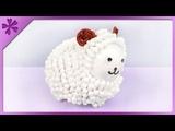 DIY Cotton bud Easter lamb (ENG Subtitles) - Speed up #330
