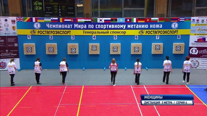Чемпионат мира по Универсальному бою в дисциплине Спортивное метание ножа, Москва - 2017