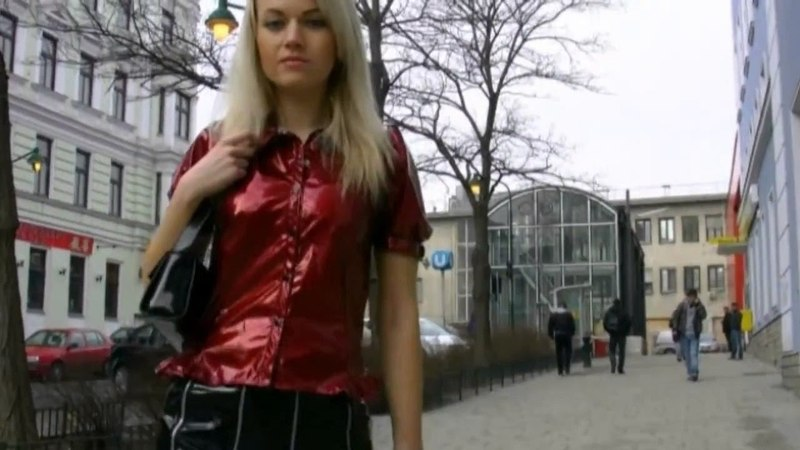 Justyna in pvc dress and mini skirt