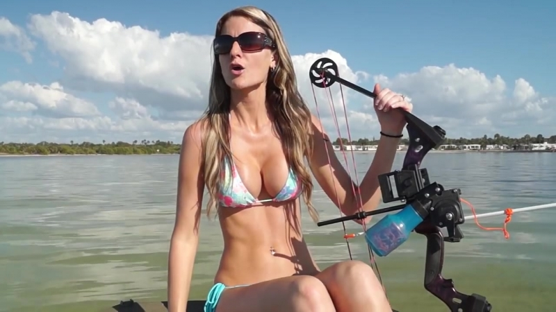 Bikini Bowfishing Episode 2 Stingrays and Rod and Reel Shark