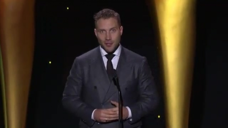Jai presents the Best Film Award. 7th AACTA International Awards, Los Angeles, January 5, 2018