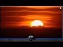 Плоская Земля наблюдение горной цепи на закате на растоянии 280км