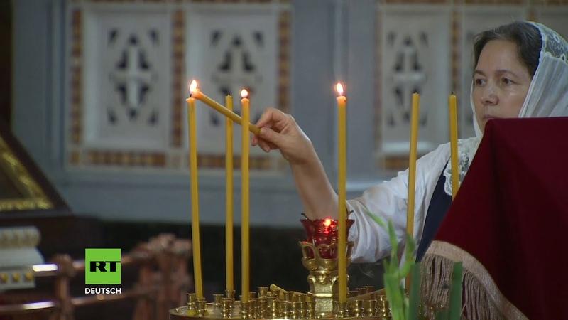 Russland Nachtwache zur Feier der orthodoxen Taufe der Kiewer Rus