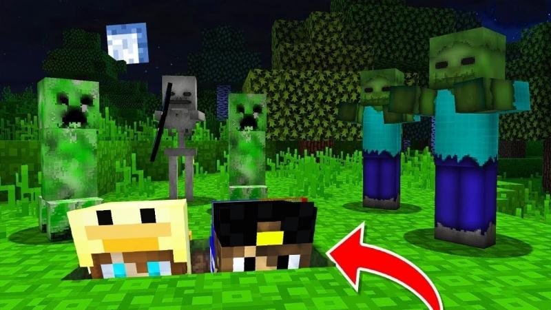 ЕвгенБро Майнкрафт Выживание ХАРДКОР в Деревне Жителей в 3 часа ночи Нуб Minecraft видео мультик для детей