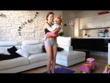 Тренировка с ребенком. КАК ПОХУДЕТЬ ПОСЛЕ РОДОВ - Фитнес для мам!