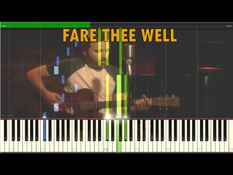 Fare Thee Well Supernatural Version by Rob Benedict Synthesia Piano Tutorial