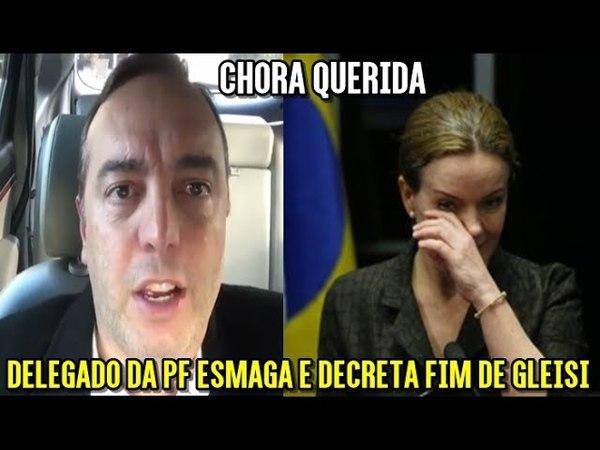 Dep Delegado da PF DÁ NO MEIO De Gleisi Hoffmann após ataques dela contra DELTAN,MORO,PF e LAVA JATO