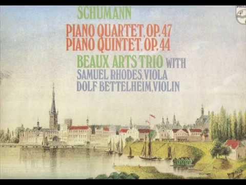 Schumann. Piano Quartet Op. 47. Beaux Arts Trio.