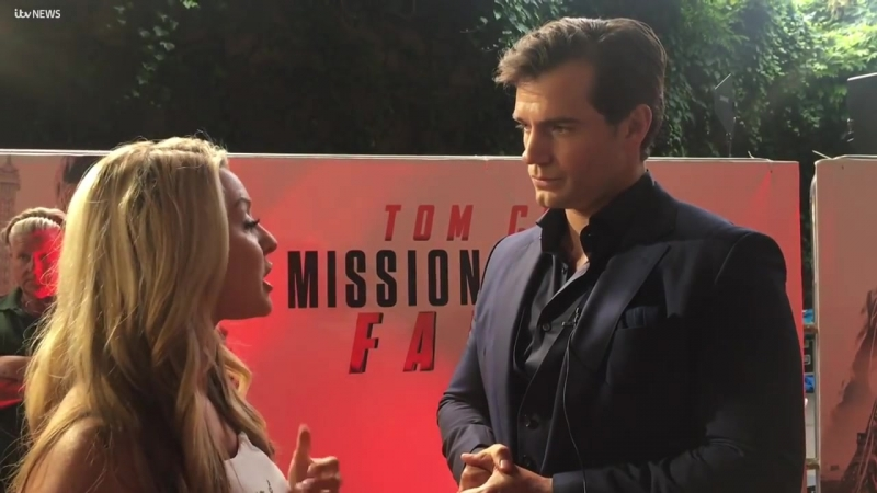 Actor Henry Cavill sends message to Jersey fans at Mission Impossible premiere _