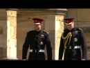 Prince Harry arrives at St. Georges Chapel with Prince William for Royal Wedding 2018 ( The Royal Family Channel )