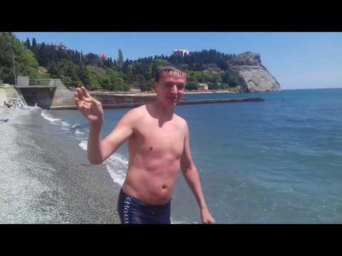 Пляж санаторий Утёс Крым открытие купательного сезона 12 05 2018