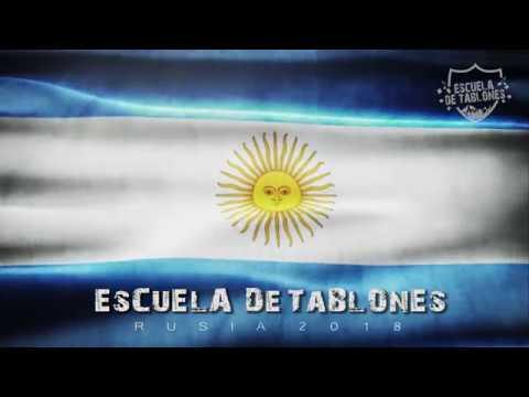Tema nuevo Selección argentina Rusia 2018 - Yo soy argentino te vengo alentar Escuela de tablones