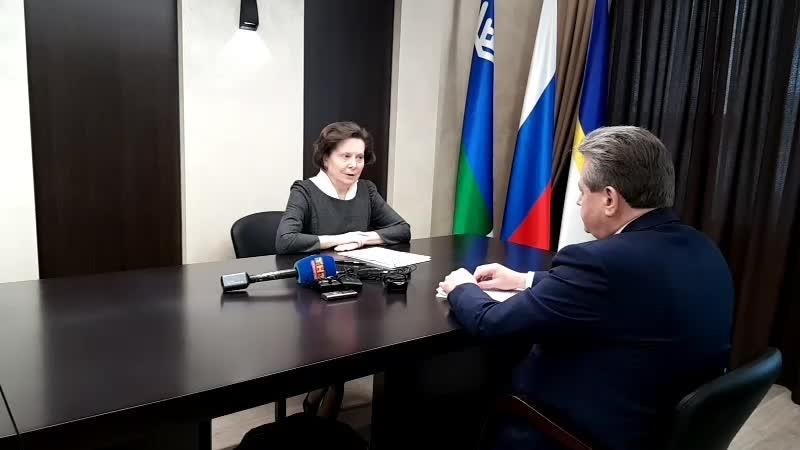 Встреча губернатора Югры Натальи Комаровой с главой Нижневартовска Василием Тихоновым