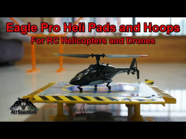 Micro Electric RC Bell 222 Airwolf Helicopter with Eagle Pro Heli Pads