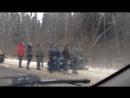 Видеоподробности жёсткого ДТП в Смоленском районе. В столкновении легковушки с фурой пострадали два человека
