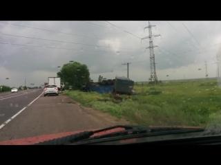 ДТП трасса Воронеж-Нововоронеж переверуналась фура