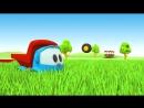 Грузовичок Лёва - машинки конструктор - Роботы играют в футбол - Мультики для малышей
